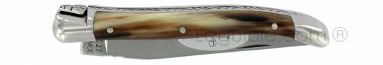 Laguiole knife 1 piece 9 cm Horn Tip handle shiny stainless steel