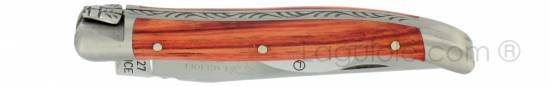 Laguiole knife 1 piece 9 cm rosewood handle brushed stainless steel
