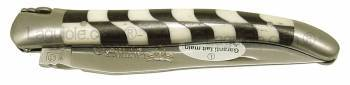 Laguiole knife Damier Ebony Bone Inox 4.72inches 1piece