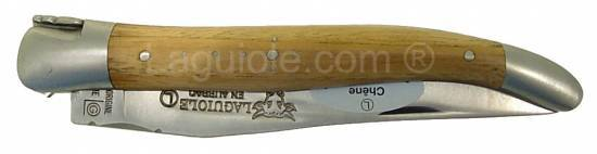 Laguiole knife 1 piece 12cm oak handle brushed stainless steel