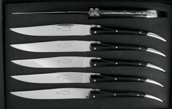 -L'Aubracien Table knives Buffalo handle (Set of 6)