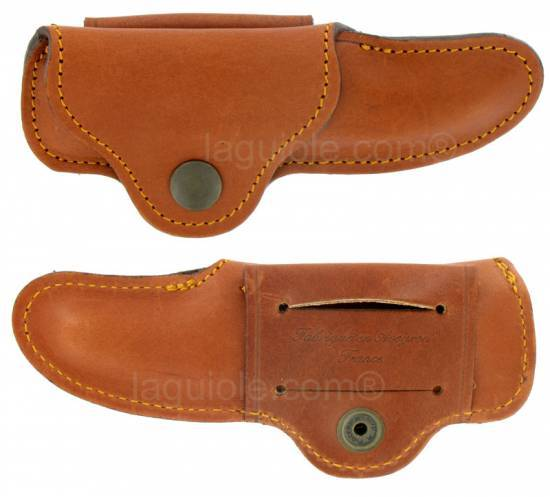 leather case Laguiole Evasion 12cm MAYA