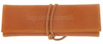 leather case Laguiole Lesparros Lacet 15cm MAYA