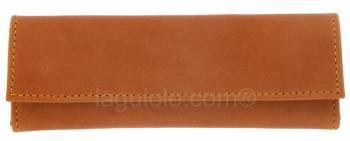 leather case Laguiole Lesparros Pression 15cm MAYA