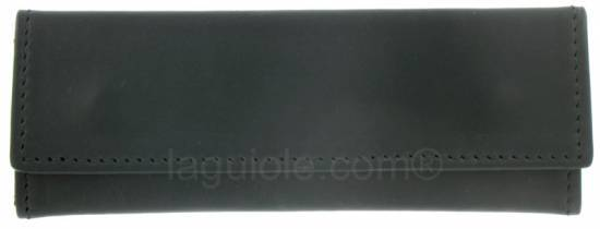 leather case Laguiole Lesparros Pression 15cm BLACK