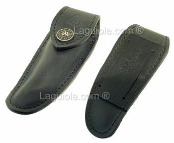 small leather case Laguiole Nature TPM BLACK for knife 9cm or 10 cm