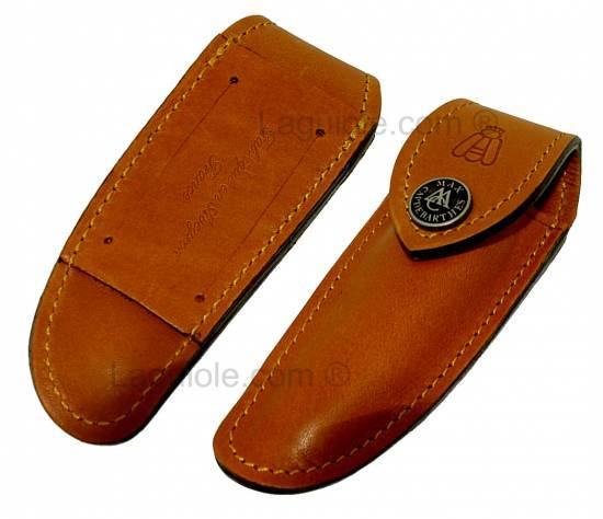 small leather case Laguiole Nature TPM MAYA for knife 9cm or 10 cm