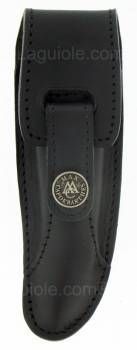 -leather case Laguiole Prestige 12cm Noir