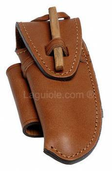 leather case Laguiole Trappeur 12cm MAYA