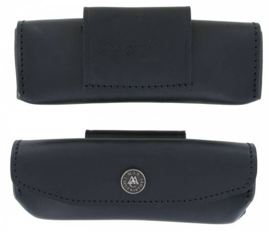 leather case Laguiole Provencal 12 - 13 cm Black