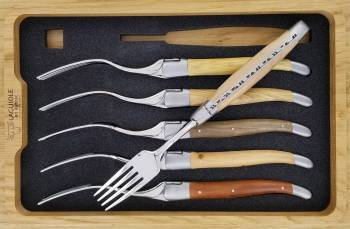 -Laguiole en Aubrac Table forks French Woods (Set of 6)