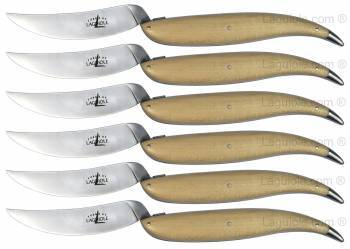 Laguiole Table knives Virgule designed by Hilton (set of 6) Forge de Laguiole