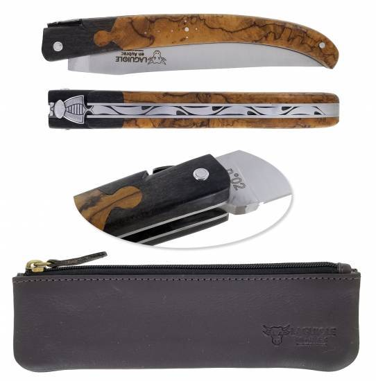 Laguiole en Aubrac knife Neo 14cm Key Hole Teck Ebony Number 2
