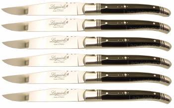Laguiole Table knives Black Horn Tip handle (Set of 6)