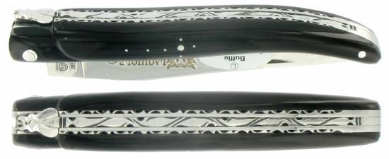 Laguiole knife 12cm full handle buffalo horn tip
